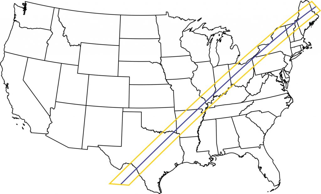 2024 Total Eclipse Path